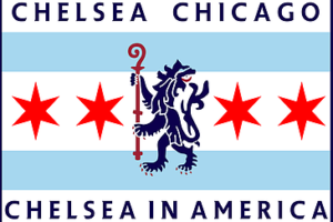 Chelsea Chicago flag and logo for Chelsea Chicago
