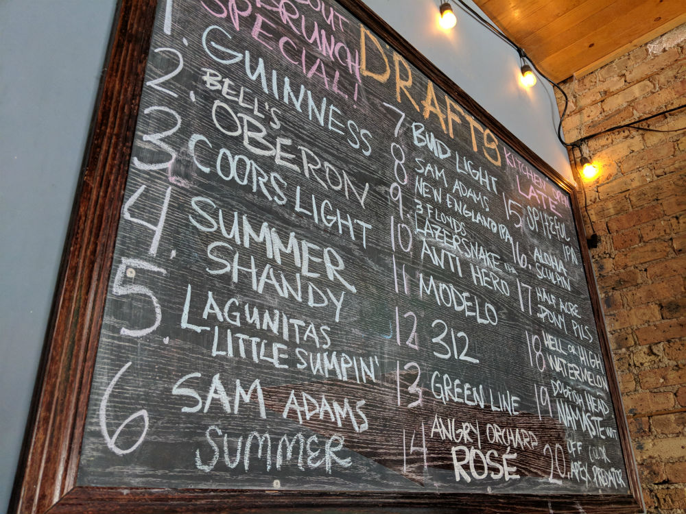 Draft Beers Chalk Board
