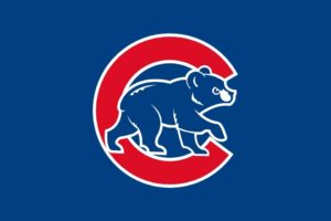Chicago Cubs flag and logo
